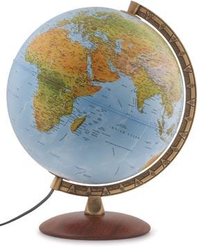 Wereldbol Astra, met dubbel effect: reliëf en politiek, diameter 30 cm, Nederlands