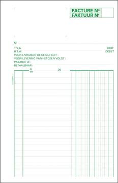 Exacompta factuurboek, ft 21 x 13,5 cm, tweetalig, dupli (50 x 2 vel)
