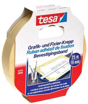 Tesa bevestigingsplakband, ft 19 mm x 25 m