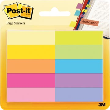 Post-It Notes Markeerstroken, 50 blaadjes, pak van 10 blokken