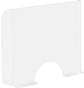 Exascreen beschermwand voor adem/sputum, glashelder, staand, ft 95 x 68 cm