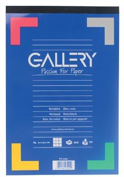 Gallery schrijfblok, ft A4, geruit 5 mm, blok van 100 vel