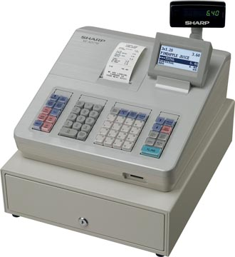Sharp thermische kasregister XE-A207W, wit
