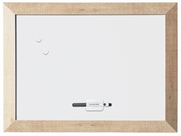 Bi-Office Kamashi magnetisch whiteboard met naturel kader
