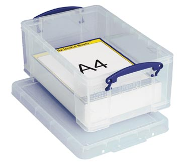 Really Useful Box opbergdoos 9 liter, transparant